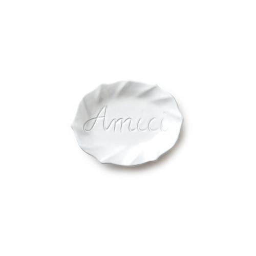Vietri Incanto White Ruffle Amici Plate