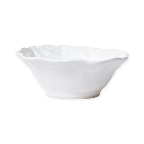 Vietri Incanto Stone White Lace Cereal Bowl