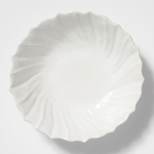 Vietri Incanto Stone White Ruffle Large Bowl