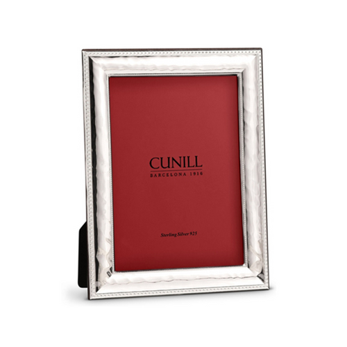 Cunill Sterling Silver Hammered Bead Picture Frame