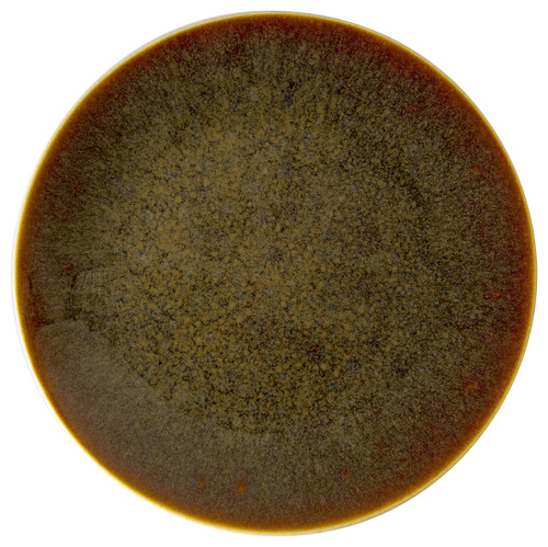 """Royal Crown Derby Flamed Caramel 6.5"""" Canape Plate"""