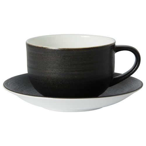 Royal Crown Derby Almost Midnight Cappuccino Saucer