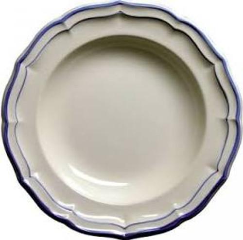 Gien Filet Bleu Rimmed Soup Plate