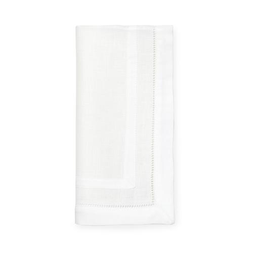 Sferra Tipton White Dinner Napkins - Set of 4 - 20x20