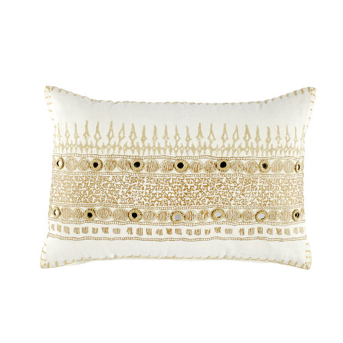 John Robshaw Primose Gold Decorative Pillow with Insert - 12x18