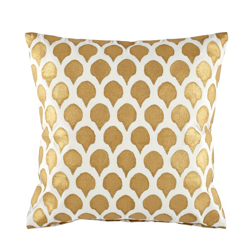 John Robshaw Nadole Gold Decorative Pillow with Insert - 20x20