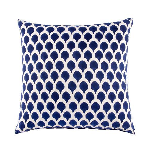John Robshaw Nadole Indigo Decorative Pillow with Insert - 26x26