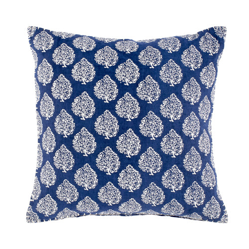 John Robshaw Mali Indigo Decorative Pillow with Insert - 20x20