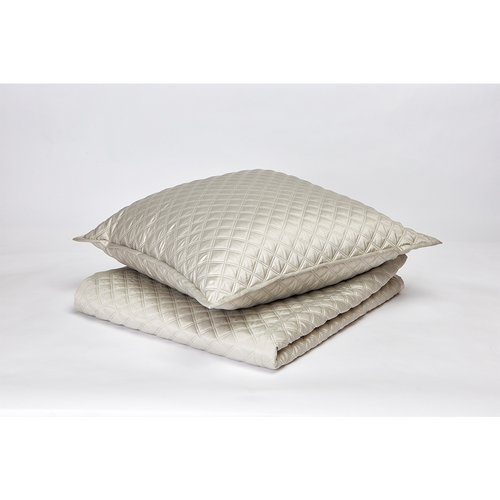 Ann Gish Double Diamond Silver Coverlet Set