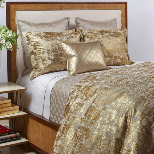Ann Gish Scratch Gold Duvet Set