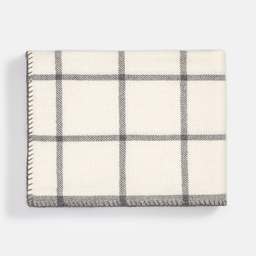 Alicia Adams Graydon Throw Ivory/Light Grey