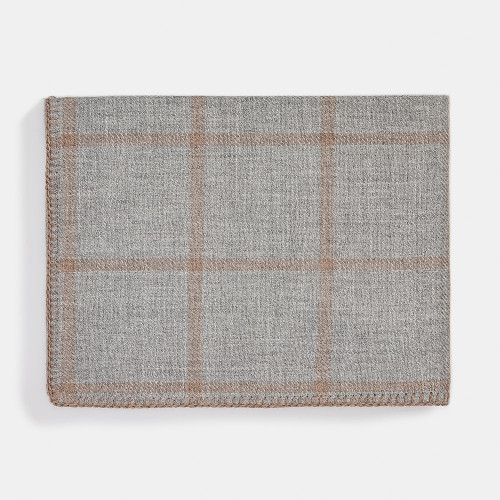 Alicia Adams Graydon Throw Light Grey/Taupe