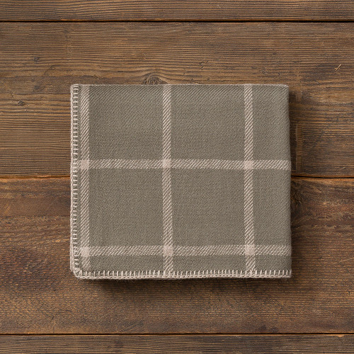 Alicia Adams Graydon Throw Moss/Light Taupe