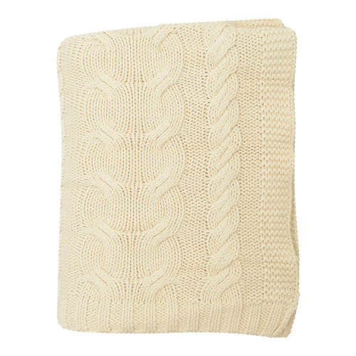 Darzzi Chunky Braid Throw - Natural