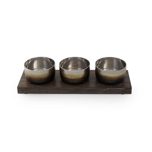 Michael Aram Torched Triple Bowl Set