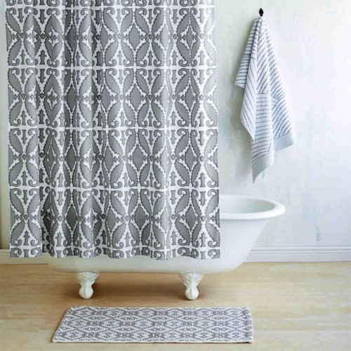 John Robshaw Khoma Shower Curtain - Gray
