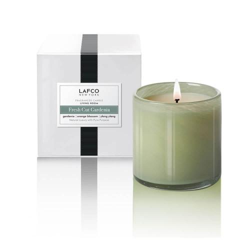 LAFCO Living Room Signature Candle-Fresh Cut Gardenia-15.5oz