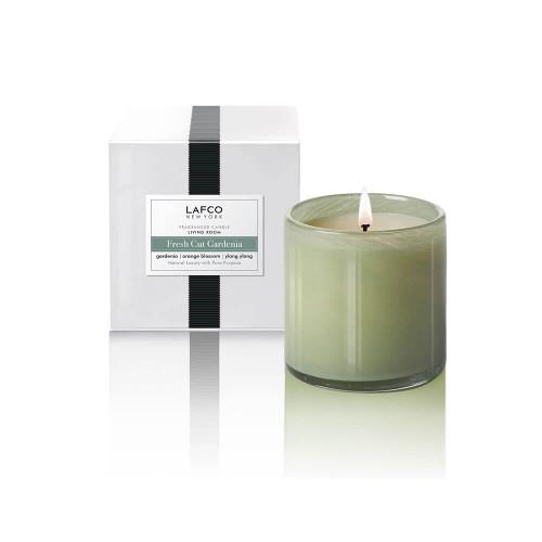 LAFCO Living Room Classic Candle-Fresh Cut Gardenia-6.5oz