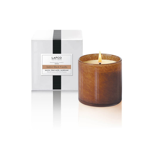 LAFCO Foyer Classic Candle Amber Black Vanilla-6.5oz
