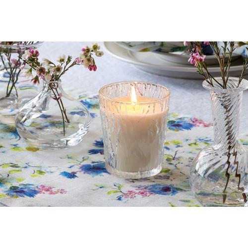 Simon Pearce Silver Lake Peony Blossom Candle