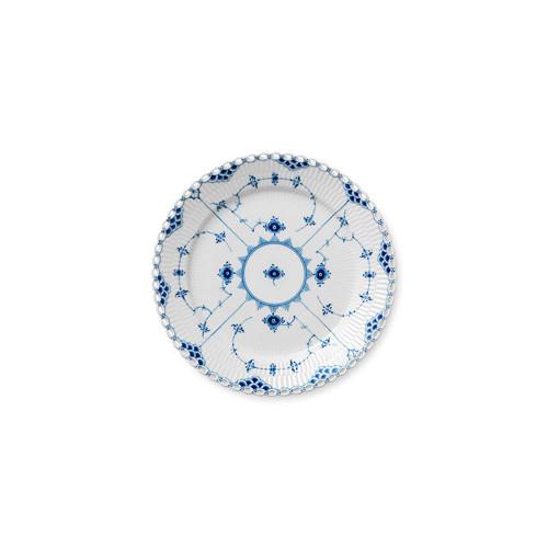 """Royal Copenhagen Blue Fluted Full Lace Dinner Plate, 10.75"""""""