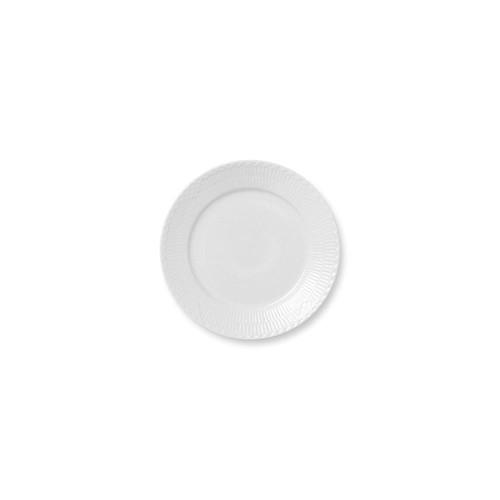 "Royal Copenhagen White Fluted Half Lace Salad Plate, 8.75"""
