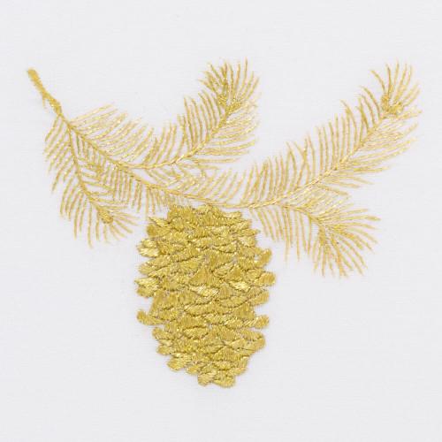 Henry Handwork-Gold Pinecone Guest Towel