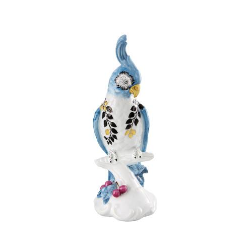 Vista Alegre Christian Lacroix Primavera Candle Holder Cockatoo - Blue