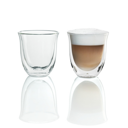 De'Longhi 2 Cappuccino Double Wall Thermal Glasses