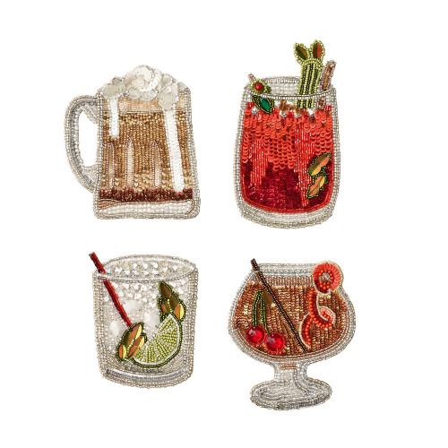 Kim Seybert Cheers Coaster - Set of 4