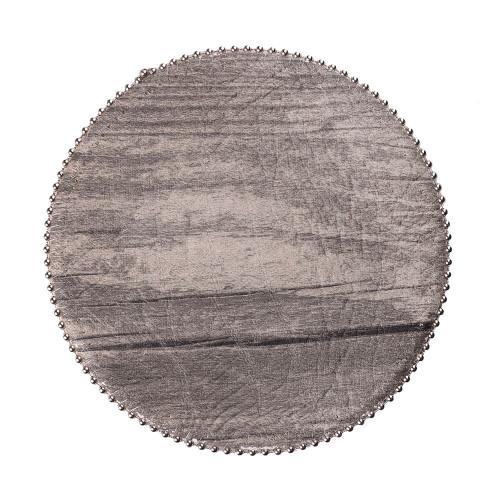 Uppercut Woodgrain Coasters - Desert Pine - Round - Silver Ball Chain Trim