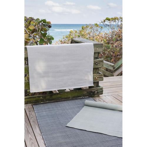 Dash & Albert C3 Herringbone Pearl Grey Indoor/Outdoor Rug - 2x3