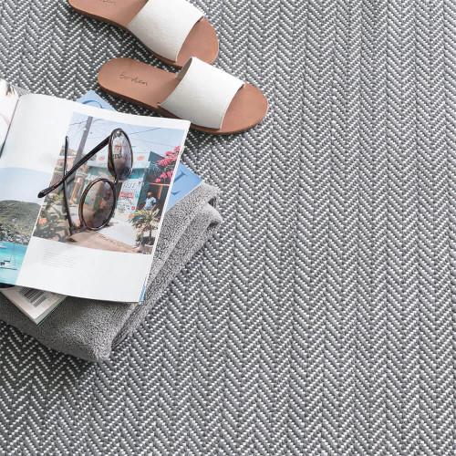 Dash & Albert C3 Herringbone Shale Indoor/Outdoor Rug - 2x3