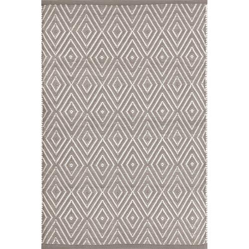 Dash & Albert Diamond Fieldstone/Ivory Indoor/Outdoor Rug - 2x3
