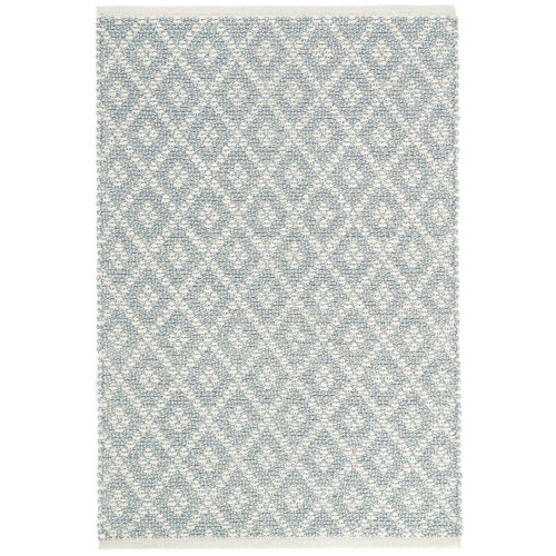 Dash & Albert Marled Diamond Light Blue Woven Cotton Rug - 2x3