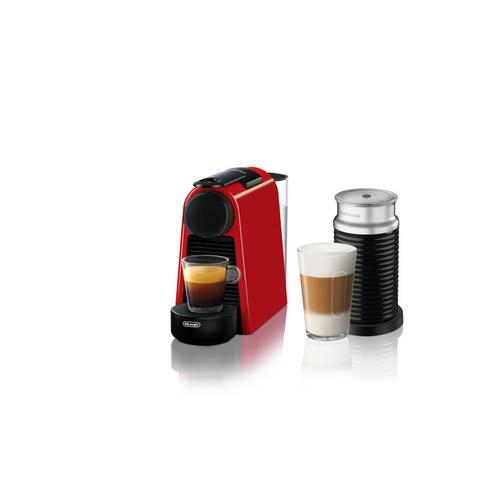 Nespresso Essenza Mini Espresso Machine by De'Longhi with Aeroccino - Red