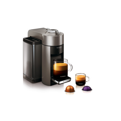 Nespresso Evoluo Coffee and Espresso Maker by De'Longhi - Graphite Metal