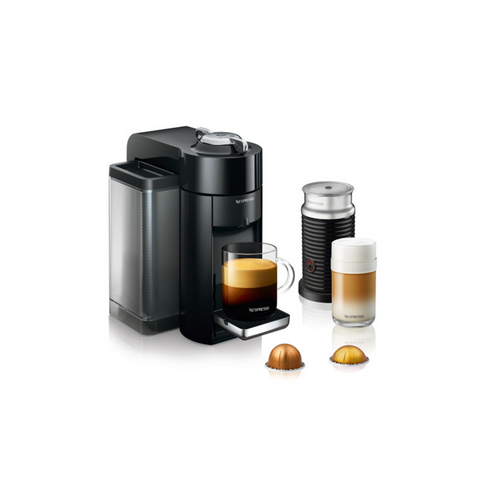 Nespresso Evoluo Coffee and Espresso Maker by De'Longhi with Aerocinno - Black