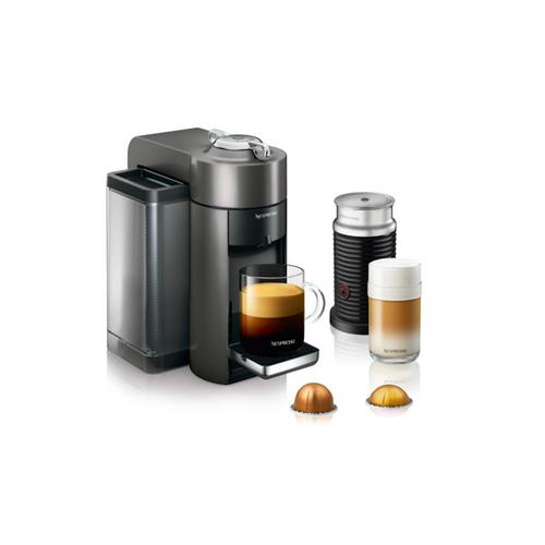 Nespresso Evoluo Coffee and Espresso Maker by De'Longhi with Aerocinno - Graphite Metal