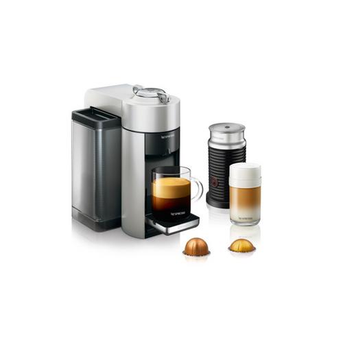 Nespresso Evoluo Coffee and Espresso Maker by De'Longhi with Aerocinno - Silver