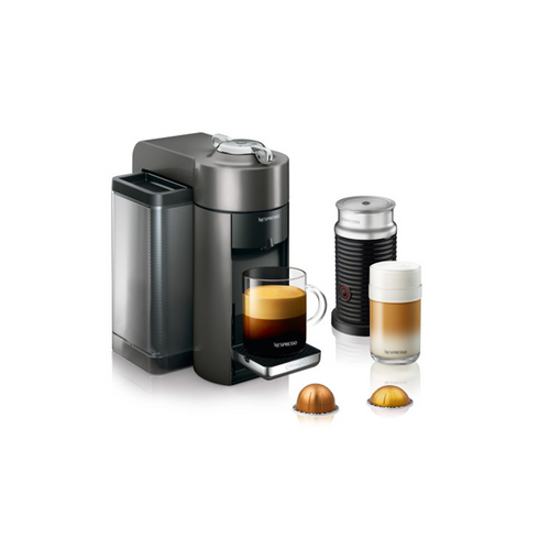 Nespresso Evoluo Coffee and Espresso Maker by De'Longhi with Aerocinno - Titan