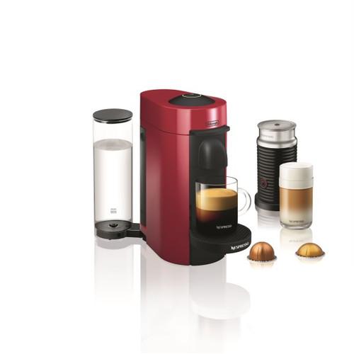 Nespresso Vertuo Plus Coffee and Espresso Maker by De'Longhi with Aerocinno - Red
