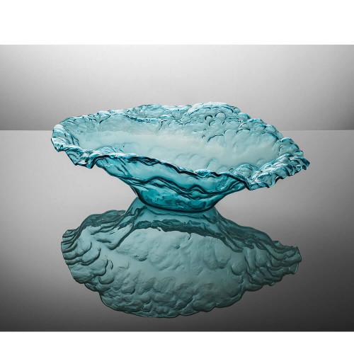Annieglass Ultramarine Water Sculpture Bowl