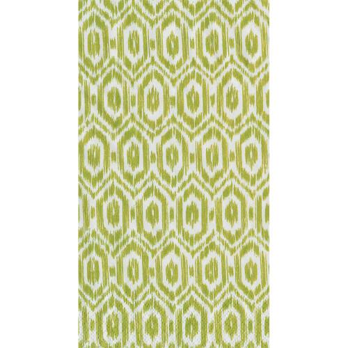 Caspari Amala Ikat Guest Towel - Green