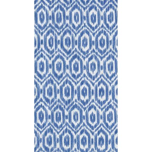 Caspari Amala Ikat Guest Towel - Blue
