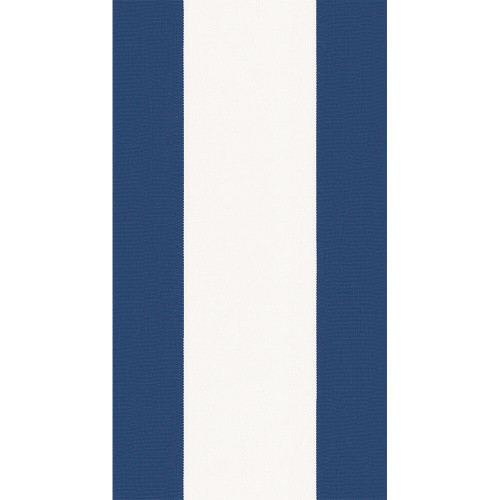 Caspari Bandol Stripe Guest Towel - Navy