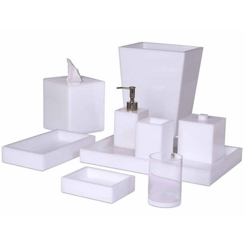 Mike & Ally White Ice Bath Accessories Collection