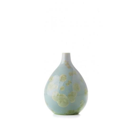Simon Pearce Crystalline Teardrop Vase - Small
