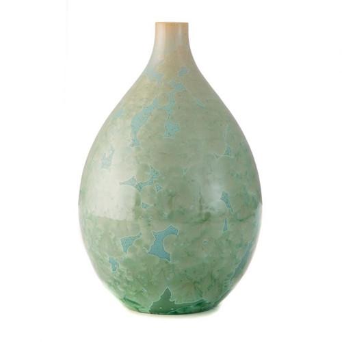 Simon Pearce Crystalline Teardrop Vase - Medium