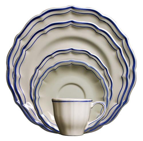 Gien Filet Bleu Dinnerware Collection
